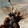 Guercino, Casino Ludovisi, Sława w towarzystwie personifikacji Honoru i Cnoty, malowidła I piętra