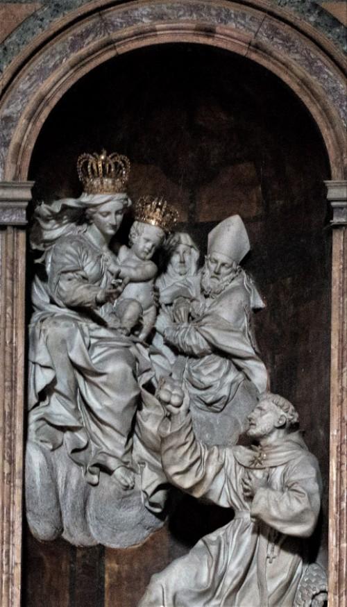 Alessandro Algardi, ołtarz główny, rzeźby Ercole Ferrata i Domenico Guidi, kościół San Nicola da Tolentino