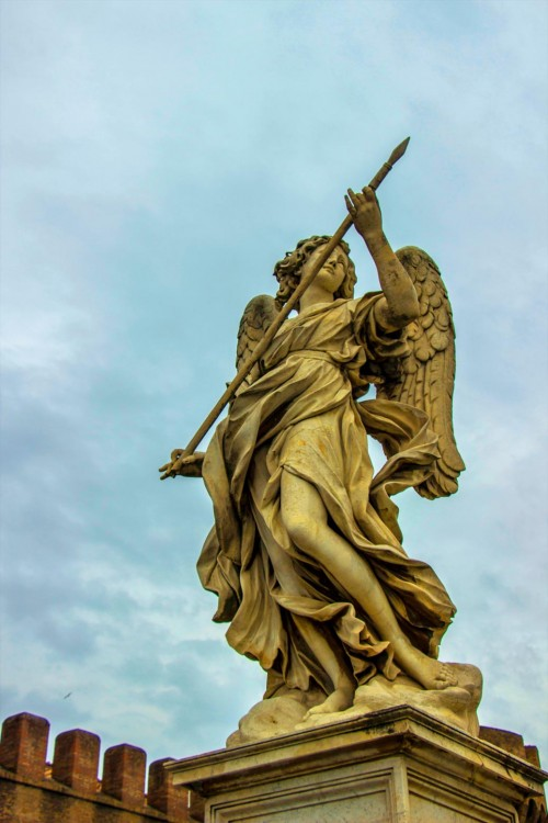 Domenico Guidi, Angel with a Spear, Ponte Sant'Angelo