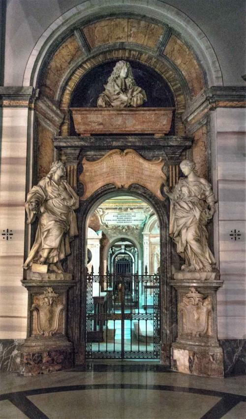 Domenico Guidi, tombstone of Gaspare Thiene and the allegory of Prudence, Basilica of Sant'Andrea della Valle