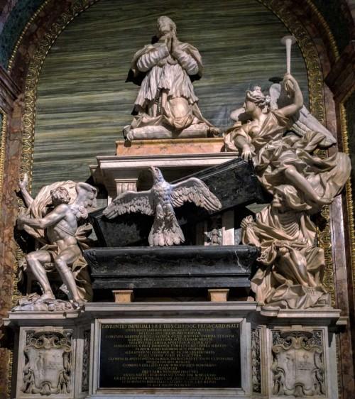 Domenico Guidi, tombstone of Cardinal Lorenzo Imperiali, Basilica of Sant'Agostino