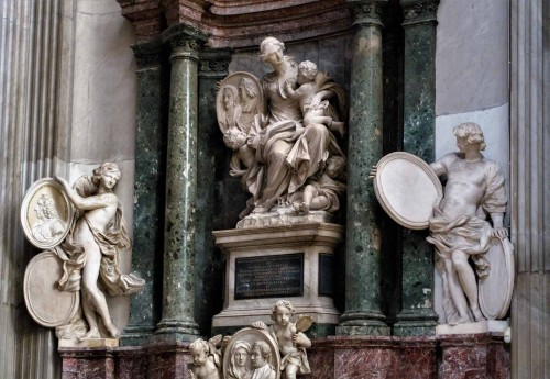 Domenico Guidi, tombstone of Orazio Falconieri and Ottavia Sacchetti, Basilica of San Giovanni dei Fiorentini