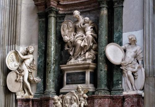 Domenico Guidi, nagrobek Orazio Falconiera i Ottavii Sachetti, bazylika San Giovanni dei Fiorentini