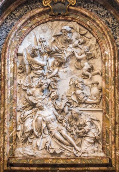 Domenico Guidi, Pietà, Cappella del Monte di Pietà, Palazzo del Monte di Pietà