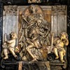 Domenico Guidi, tombstone of Camillo del Corno, fragment, Church of Santissimi nomi di Gesù e Maria