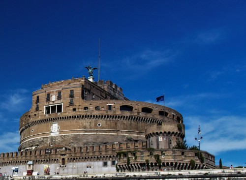 Mausoleum of Hadrian, presently Castle of the Holy Angel (Castel Sant'Angelo)