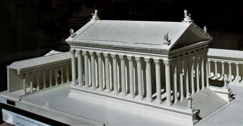 Model of the Hadrianeum (Hadrian's Temple)