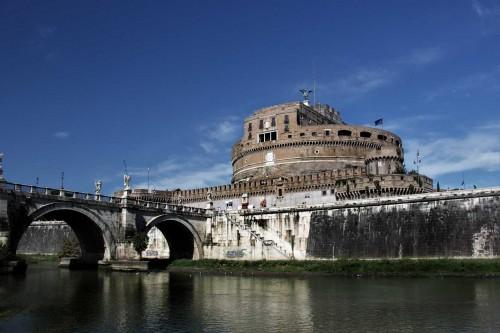 Bridge of the Holy Angel (Ponte Sant'Angelo) and Castle of the Holy Angel (Castel Sant'Angelo) – the former  Mausoleum of Hadrian