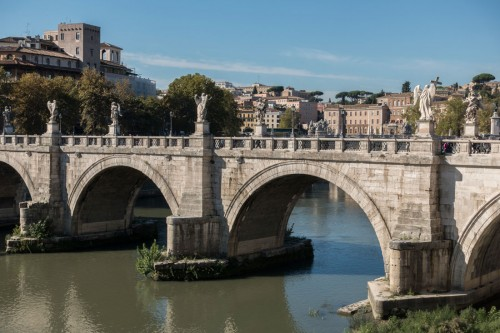 Ponte Sant'Angelo, a bridge built by Hadrian connecting the city with his mausoleum