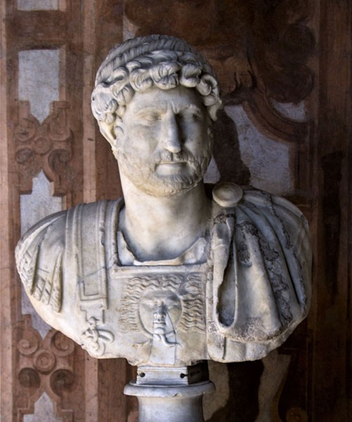 Bust of Emperor Hadrian, Muse Nazionale Romano, Palazzo Altemps