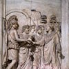 Hadrian's arrival in Rome, Greeted by the Senate, the populace and the goddess Roma, relief from the unpreserved Arch of Hadrian, Musei Capitolini