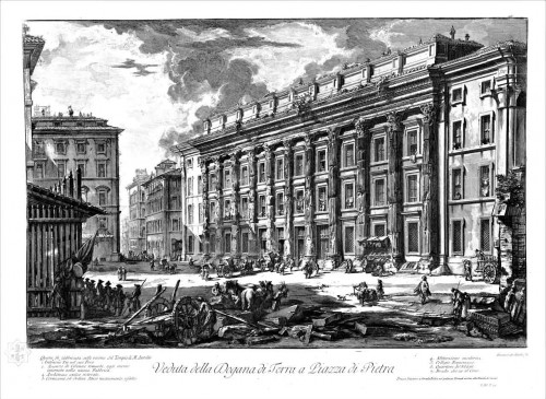 Budynek Urzędu Celnego, Giovanni Battista Piranesi, XVIII w., zdj. Wikipedia