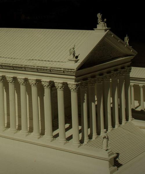 Świątynia Hadriana, model