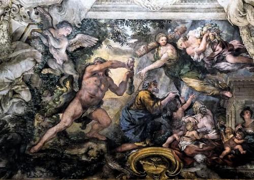 Herkules rozprawiający się z Harpią, Triumf Opatrzności Bożej, Pietro da Cortona, Palazzo Barberini