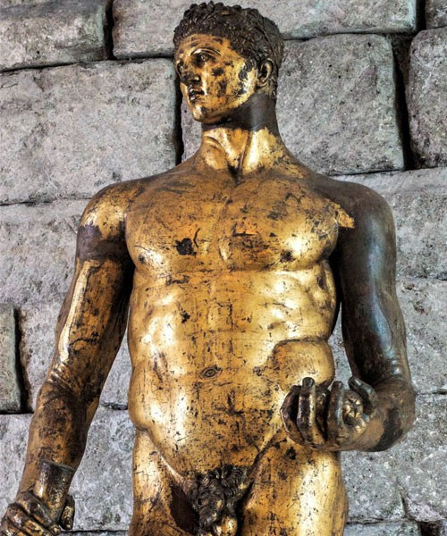 The statue of Hercules from Forum Boarium, Musei Capitolini