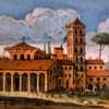 Bazylika San Lorenzo fuori le mura, widok kościoła z początku XVII w.