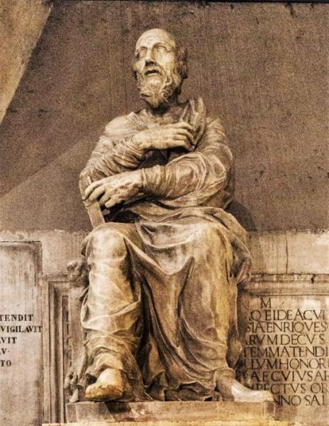 Posąg papieża Hipolita, fragment, kościół San Lorenzo in Damaso