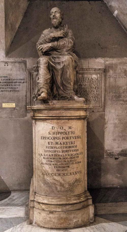 Posąg papieża Hipolita, kościół San Lorenzo in Damaso