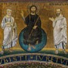 Mozaika z czasów Pelagiusza, ostatni po prawej - św. Hipolit, bazylika San Lorenzo fuori le mura