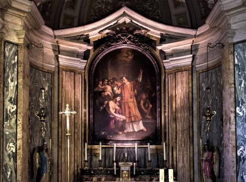 Chrzest Hipolita, ołtarz główny kościoła San Lorenzo in Fonte (Santi Lorenzo e Ippolito)