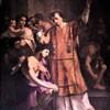 Chrzest Hipolita, fragment, ołtarz główny kościoła San Lorenzo in Fonte (Santi Lorenzo e Ippolito)