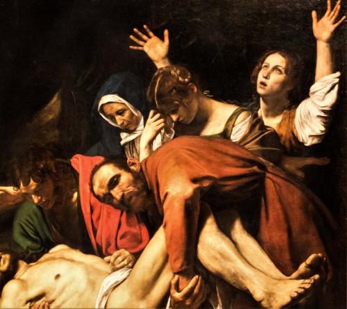 The Entombment of Christ, S. John and Nicodemus hold the Body of Christ, Musei Vaticani, Caravaggio, Musei Vaticani