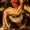 Złożenie do grobu, Caravaggio, śś. Jan i Nikodem podtrzymują ciało Chrystusa, Musei Vaticani