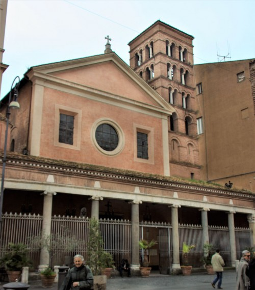 Façade of the Church of San Lorenzo in Lucina