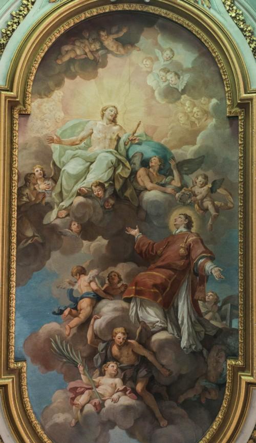 The Glory of St. Lawrence, Antonio Bicchierai, ceiling of the Church of San Lorenzo in Panisperna