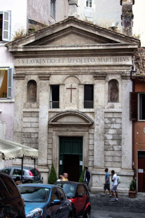Church of San Lorenzo in Fonte (Santi Lorenzo e Ippolito), legendary location of the imprisonment of St. Lawrence and the baptism of St. Hippolytus