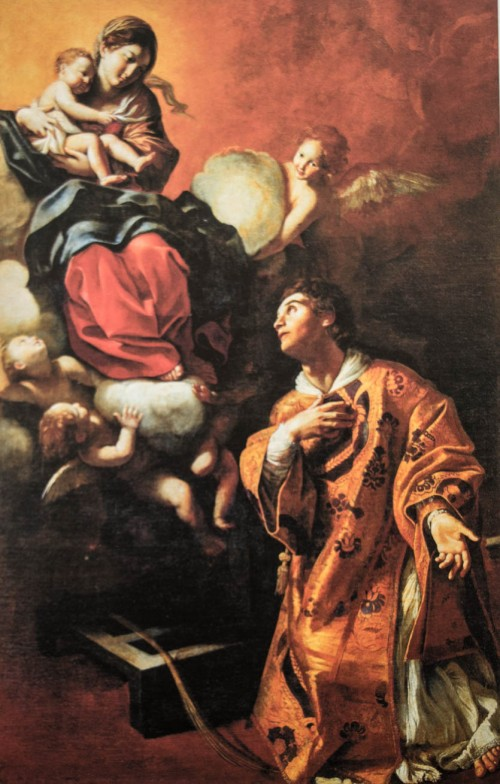 Madonna with Child Appearing to St. Lawrence, Giovanni Lanfranco, Palazzo del Quirinale