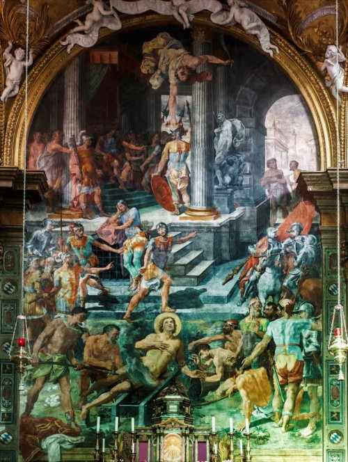 Męczeństwo św. Wawrzyńca, Pasquale Cati, kościół San Lorenzo in Panisperna