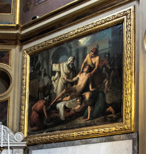 The Martyrdom of St. Lawrence, Giuseppe Creti, Church of San Lorenzo in Lucina
