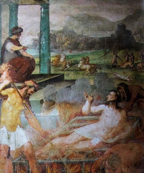 Św. Wawrzyniec na ruszcie, Il Pomarancio, bazylika San Stefano Rotondo