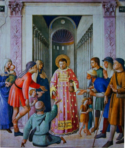 St. Lawrence Distributing Alms, Fra Angelico, Chapel of Pope Nicholas V, Apostolic Palace