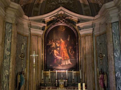 The Baptism of St. Hippolytus, Giovanni Battista Speranza, Church of San Lorenzo in Fonte