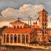 Bazylika San Lorenzo fuori le mura, widok kościoła z początku XVII w., Muso di Roma, Palazzo Braschi