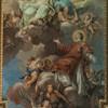 Gloria św. Wawrzyńca, Antonio Bicchierai, strop kościoła San Lorenzo in Panisperna