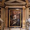 Św. Lucyna pokazująca Wawrzyńcowi plany kościoła, Sigismondo Rosa, kościół San Lorenzo in Lucina